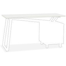 Mayline Glass Top for 2-Drawer Pedestal V-Desk Base - 0.31in. Table Top Thickness x 55in. Width x 23.50in. Depth - -