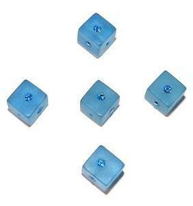 Steven_store APL285 Sapphire Swarovski Crystal & Dark Blue Resin 8mm Square Cube Beads Making Beading Beaded Necklaces Yoga Bracelets