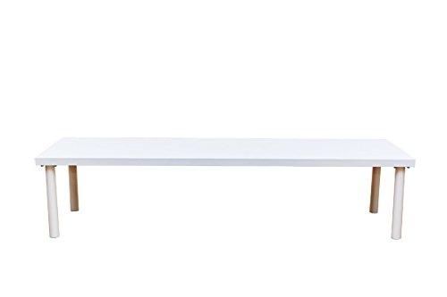 フリーローテーブル150×45cmスリム幅ホワイト(TZ-1545WH) B005LT0JC4