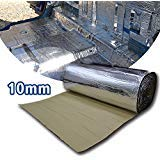 Insulation Shield - LINGDA 10.76 SqFT 10mm Heat Shield Thermal Sound Insulation Proofing Deadener Mat Car Noise Control Acoustic Dampening Moistureproof Waterproof (40inch X 40inch)