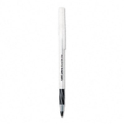 (Round Stic Grip Ball Pen, Translucent Barrel, Black Ink, Medium Pt, 1.2)