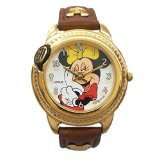 Lorus Disney Talking Minnie Mouse Watch with Brown Leather Band