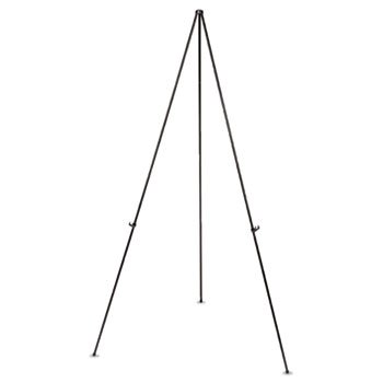 Universal 43029 Instant Setup Foldaway Easel, Adjusts 15'' to 61'' High, Steel, Black