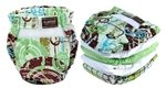 Kushies 5 Pack Washable Ultra-Lite Diaper For Infant, Neutral Print by Kushies