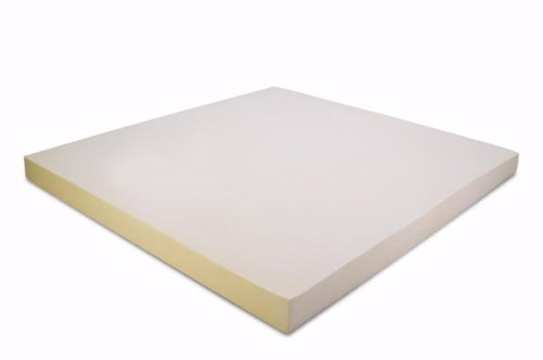 California King 4 Inch Thick, 5 pound Density Visco Elastic Memory Foam Mattress Pad Bed Topper Made in the USA by Memory Foam Solutions (Image #1)