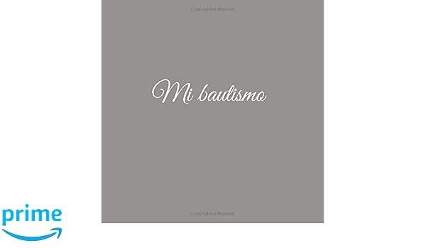 Libro De Visitas Mi bautismo para bautizo ideas regalos decoracion accesorios fiesta libro de recuerdos firmas invitados ... 21 x 21 cm Cubierta Gris ...