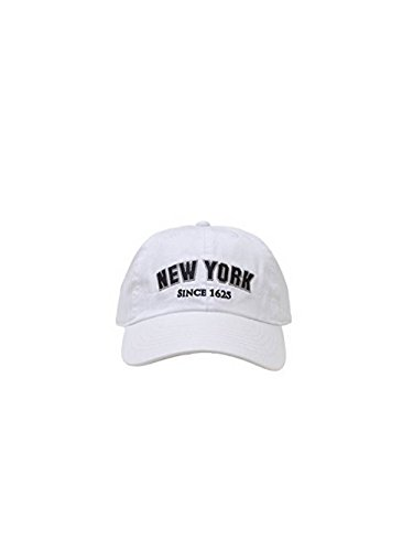 New York 1625 Vintage Baseball Cap (25 Styles Available) (PureWhite/Black) (Vintage Style Baseball Cap)