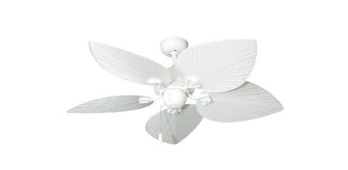 42' Bombay Tropical Ceiling Fan in Pure White