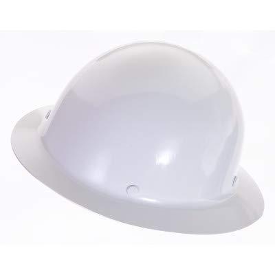 MSA 454665 Skullgard Full Brim Hard Hat, with 4-point Staz-On Suspension,  Standard, White