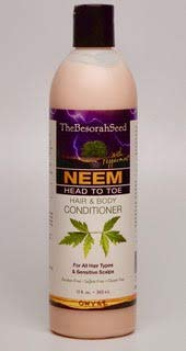Neem Oil & Bark Conditioner -Herbal Essential Oils, Head & Body for Tangle Free Hair