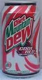Mountain Dew Diet Code Red Soda, 12-oz. Cans (Pack of 24)