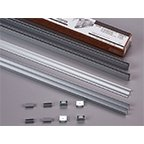 Roll-Ezy Aluminum Track Assembly Pack For Small to Medium Sliding Glass Doors