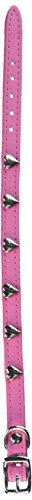 - OmniPet Signature Leather Dog Collar with Heart Ornaments, Pink, 14