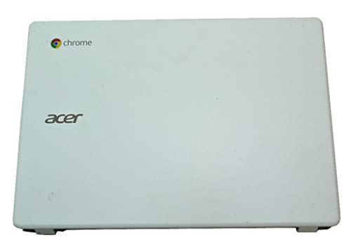 White Laptop LCD Back Cover Lid with Hinges EAZHN005010 for Acer Chromebook C720P C720 Series