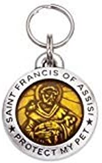 product image for Pet Id Tag Saint Francis of Assisi- Topaz