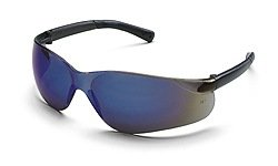 Bearkat Glasses Crews Safety (BearKat Protective Eyewear - bearkat safety glasses blue mirror lens)
