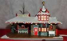 (Hawthorne Coca Cola Holiday Village Train Station w/ Certificate of Authenticity)