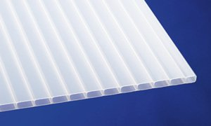 Acryl Stegplatten Hohlkammerplatten weiß-opal 2000 x 1200 x 16 mm (61,33 EUR/qm)
