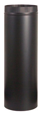 """Imperial Manufacturing Stove Pipe 6 """" Dia. X 36 """" Black 24 Ga Steel(pack of 10)"""