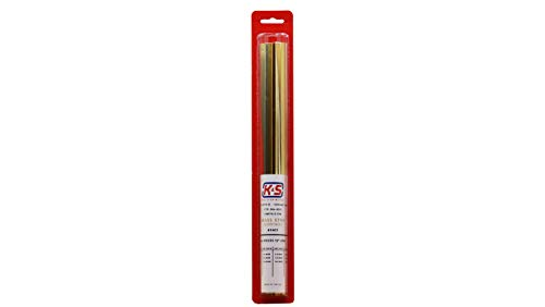 K&S Precision Metals 3406 Square/Rectangle Brass Tube, Square - 1/16, 5/32, 1/8, 5/32, 3/16, 7/32, 1/4 Rectangle - 3/32 x 3/16, 1/8 x 1/4, 5/32 x 5/16, 3/16 x 3/8, 11 Pieces per Pack, Made in The USA