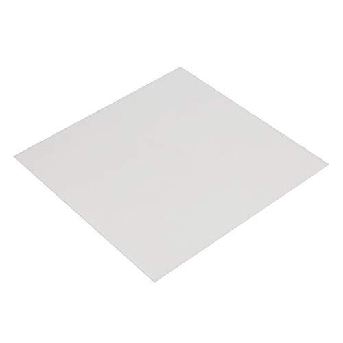 Lastre PTFE bianco 195 x 195 x 1 mm piastra PTFE Pannello compatto Teflon