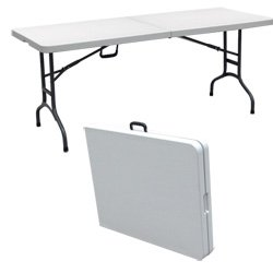 Palm Springs Folding Portable Camping / Party Table 6 Ft White