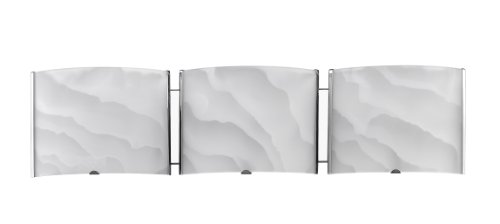 Chloe Lighting CH21010CM25-BL3  Ampere Transitional 3 Light Brushed Nickel Bath Vanity Wall Fixture White Frosted Alabaster Glass 25-Inch Wide ()