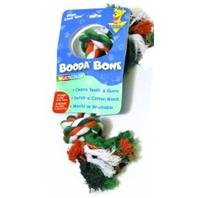 Booda 50774 Extra Large 2-Knot Multi-Color Rope Bone® Dog Toy Assorted (Large 2 Knot)