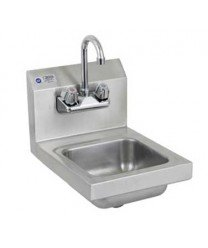 (Royal Industries Commercial-Restaurant Wall-Mounted Hand Sink w/ Faucet 12
