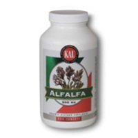 KAL Alfalfa 8 Grain Tablets, 500 mg, 500 Count by Kal