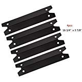 FAS INDUSTRY PPG311 BBQ Gas Grill Heat Plate/Heat Shield Replacement 4-Pack, Porcelain Steel Outdoor Cooking Replacement Parts Heat Tent, Burner Cover for Brinkmann, Charmglow Models Grills ()