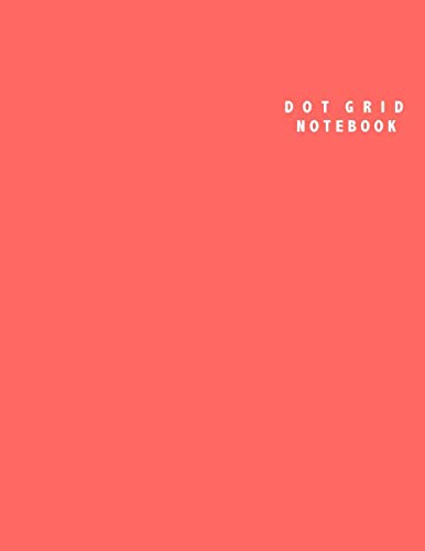 Dot Grid Notebook: Large (8.5 x 11 inches) - 106 Dotted Pages || Red Dotted Notebook/Journal