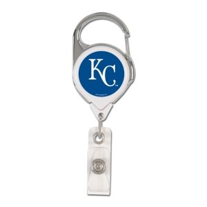 MLB Kansas City Royals Retractable Premium Badge Holder, Team Color, One Size - City Badge