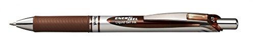 Pentel EnerGel RTX Retractable Liquid Gel Pen, (0.7mm) Metal Tip, Medium Line, Brown Ink, 12 pack (BL77-E) Photo #2