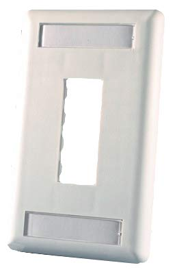 Ortronics 2-Port TracJack Faceplate, Cloud White OR-40300548-88