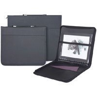 Prat Paris Start 3 Presentation Case, Padded Cloth Zippered Multi-ring Binder with Ten 18