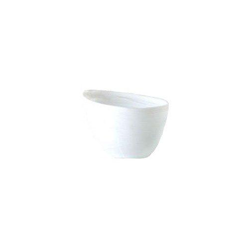 Shiraleah Medium White Frosted Alabaster Slanted Bowl ()