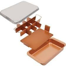 Copper Chef Bake & Crisp Pan - 4 Piece Non-Stick Baking Set by Copper Chef