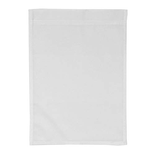11x15 Blank Garden Flag, White Made in USA ()