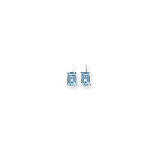 Faux Emerald Green Cut Blue Topaz Earrings (Blue Topaz Faux Earrings)