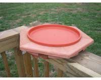 Songbird Essentials SE568 Cedar NON Heated Bird Bath Deck Mount (Set of 1)