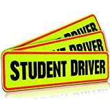 Student Driver Magnet Car Signs for The Novice or Beginner. Better Than A Decal or Bumper Sticker (Reusable) Reflective Magnetic Large Bold Visible Text (12