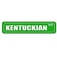Kentucky WAY - Usa States - Street Sign [ Decorative Crossing Sign Wall Plaque ]