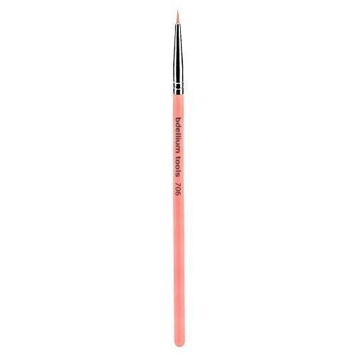 Bdellium Tools Professional Eco-Friendly Makeup Brush Pink Bambu Series with vegan synthetic bristles - Fine Point Eyeliner 706 by Bdellium Tools ()