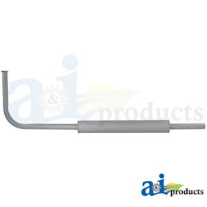 Muffler Material - A&I - Horizontal Muffler & Pipe Assembly (1939-1952 W/ GAS ENGINE). PART NO: A-8N5230