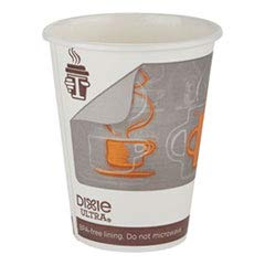 Georgia Pacific 6350AR Dixie Ultra Insulair Paper Hot Cup, 20 Oz, Coffee, 40 Cups/sleeve, 15 Sleeves/ct