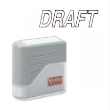 Sparco Products : DRAFT Title Stamp, 1-3/4