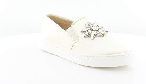 Badgley Mischka Women's Barre Fashion Sneaker, Ivory, 7.5 M -