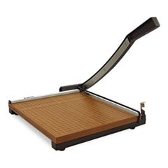 """Wood Base Guillotine Trimmer, 12 Sheets, Wood Base, 15""""X15"""""""