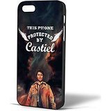 Protected By Castiel Angel Supernatural for iPhone Case (iPhone 6 Black) (Angel Recorder Case)